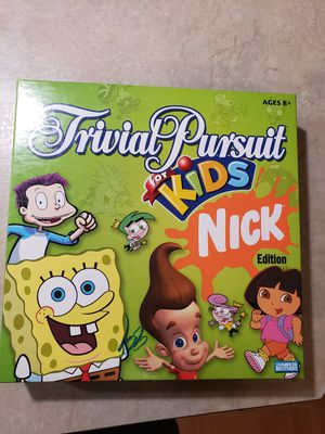 Parker Brothers Kids Trivial Pursuit Nick Edition Board Game for Sale in Tacoma, WA