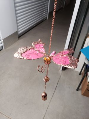 Beautiful copper glass butterfly Wind chime for Sale in Greenville, SC