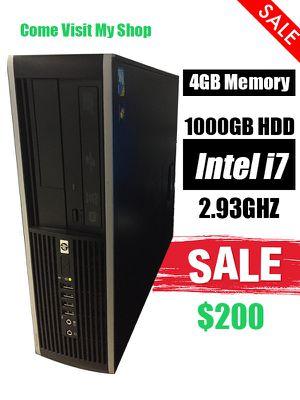 Used, Intel i7 Desktop PC 1TB 1000gb 4GB Windows 10 Computer for Sale for sale  Orlando, FL