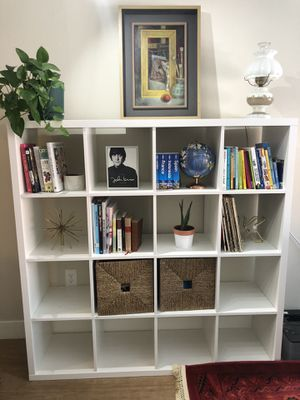 4x4 white cube shelves- storage for Sale in Denver, CO