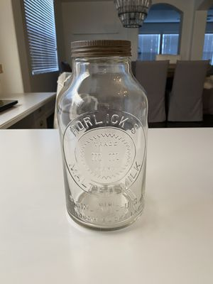 Horlick's Malted Milk. Vintage 1900s bottle with Original Lid for Sale in Colorado Springs, CO