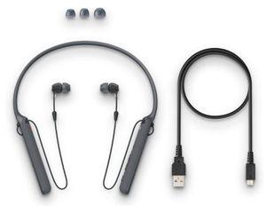 Sony - C400 Wireless Behind-Neck in Ear Headphone Black (WIC400/B) for Sale in Westland, MI