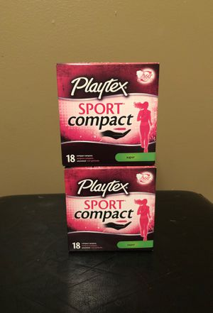 Playtex sport compact tampons set for Sale in Hamburg, NY