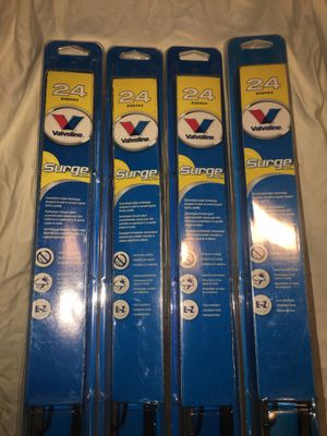 """4X VALVOLINE SURGE 24"""" WHIPER BLADES for Sale in Bluffdale, UT"""