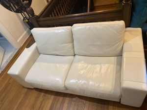Modern White Leather Couch by Natuzzi Italia for Sale in Elkins Park, PA