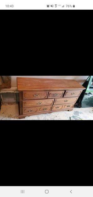 Oak dresser w/ mirror for Sale in Stewart, TN