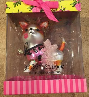 New Betsy Johnson chihuahua dog ornament Xmas Christmas holiday decorations ornaments ballet gift for Sale in Rancho Cucamonga, CA