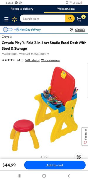 Crayola Art Kids Desk with Chair for Sale in Plainfield, IL