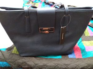 Beautiful large navy blue tote bag for Sale in Pompano Beach, FL