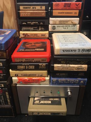 8 Track collection 64 tapes! Rock, Soul, Funk, Disco, Country Jubilee with Pioneer TH-30 tape deck for Sale in Dallas, TX