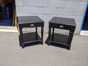 Set of black side tables 22x24x24 for Sale in Palmdale, CA