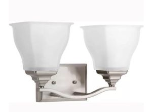 Callison Collection 2-Light Brushed Nickel Bathroom Vanity Light with Glass Shades for Sale in Vienna, VA