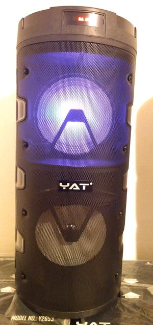 BLACK COLOR SPEAKER BLUETOOTH WIRELESS RECHARGEABLE 🔋 PORTABLE LOUD SOUND $50. NEW IN BOX for Sale in Rialto, CA