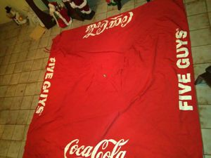 Big tent coca cola five guys big red perfect u can.use for backyard selling $40 for Sale in Miami, FL