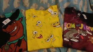 Character t shirts. Scooby doo. Spongebob and tom and jerry. Size 2X. Brand new.all for $15 for Sale in PA, US