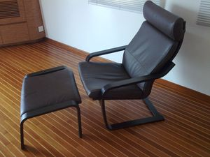 Two ikea poang armchairs and ottomans for Sale in Boston, MA