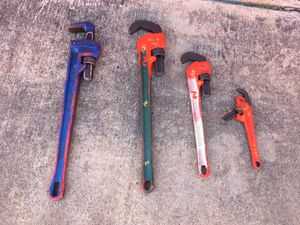 4 pipas wrench all $180 for Sale in Houston, TX