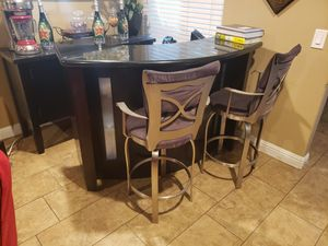 Wood bar with granite top for Sale in Ontario, CA