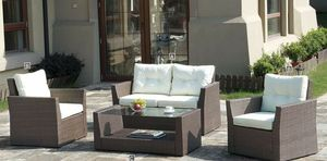 4 PIECE CONVERSATION LOUNGE SEATING LOVE SEAT CHAIR COFFEE TABLE SET for Sale in San Diego, CA