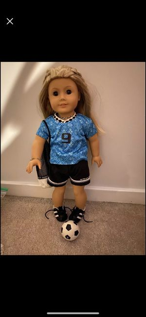American girl doll retired soccer outfit for Sale in Montgomery Village, MD