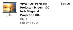 "VIVO 100"" Portable Projector Screen for Sale in Taylor Landing, TX"