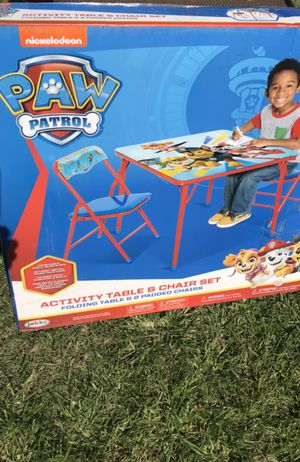 New Paw Patrol Table and Chairs for kids for Sale in El Monte, CA