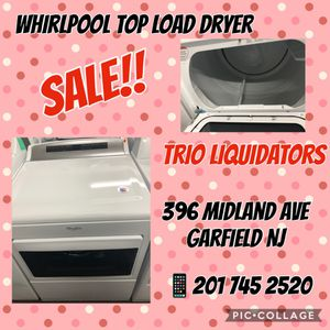 Whirlpool Top Load Dryer SALE!! for Sale in Clifton, NJ