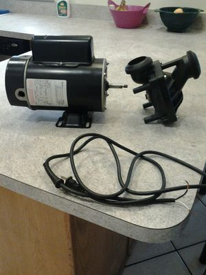 New Century 1hp 2 speed 120v hot tub spa motor and pump housing for Sale in Pompano Beach, FL