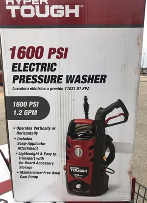 Hyper tough 1600 psi electric pressure washer for Sale in Chicago, IL