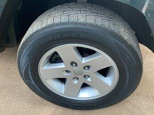 17 in Jeep Wrangler silver oem wheels for sale for Sale in Tucker, GA