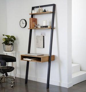 West Elm Ladder Shelf Loft Computer Office Desk -Wood/Stone for Sale in Santa Ana, CA