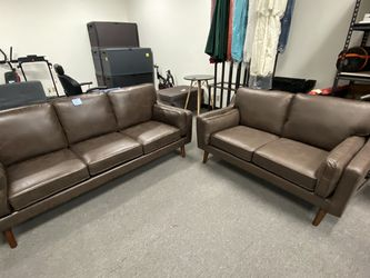 Brand New Brown Faux Leather Sofa And Loveseat Set for Sale in Fullerton,  CA