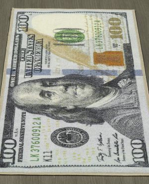 One Hundred Dollar ($100) Bill Print New Benjamin Non-slip Area Rug Runner 22''x53'' Modern Unique Decor for Sale in Fremont, CA