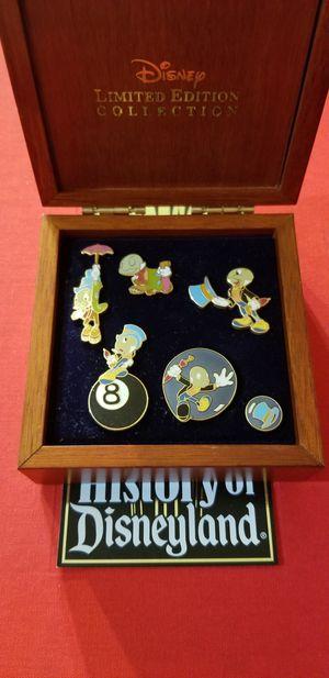 Disney Limited Edition Jiminy Cricket 6 Pin Box Set for Sale in New York, NY