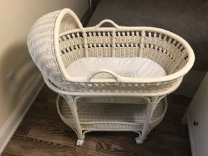 Pottery Barn Kids Wicker Bassinet with casters for Sale in Washington, DC