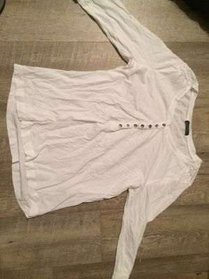 Women's Ralph Lauren and lucky brand white long sleeved T-shirt medium/large for Sale in Fort Pierce, FL