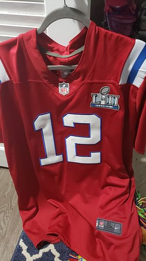 Tom Brady XL Red Jersey Patriots for Sale in Norwood, MA