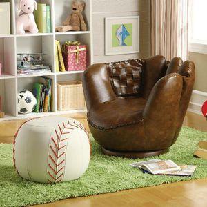 Baseball Glove Chair & Ottoman 💲39 DOWN for Sale in San Antonio, TX
