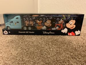 Disney Parks 2019 Peterbilt 387 Hauler Mickey Mouse Die Cast Semi Truck - NEW for Sale in Carson, CA