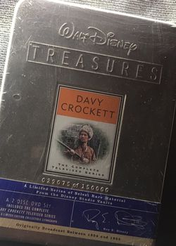 Walt Disney (TREASURES) DavyCrockett - The Complete Televised Series - A Limited Series Of Select Rare Material from The Vault - 2 Disc Set for Sale in South El Monte, CA