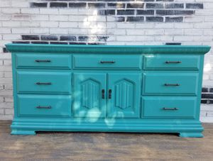 Credenza dresser. 9 drawers. Turquoise color for Sale in Westchester, CA