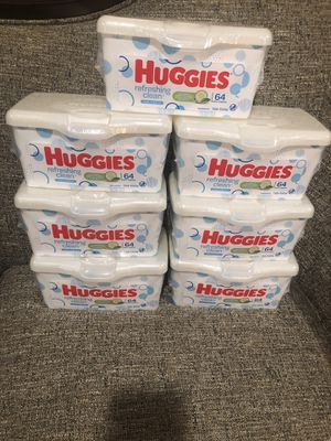 Please See All The Pictures and Read the description. 7 Packs HUGGIES Wipes. Please see all the pictures and read the description for Sale in Alexandria, VA