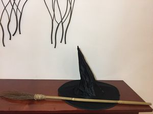 Witch Hat & Broom Costume Set! for Sale in Indian Creek, FL