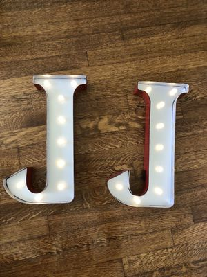 """Metal LED marquee sign- (2) letter """"J"""" for Sale in Whittier, CA"""