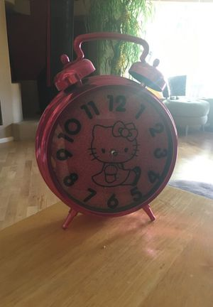 Large antique hello kitty alarm clock for Sale in Scottsdale, AZ