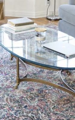 Vintage Brass & Glass Coffee Table for Sale in Los Angeles,  CA