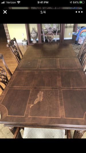 Large wooden table with chairs for Sale in North Highlands, CA