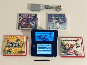 Nintendo 3DS XL BUNDLE w/ Mario Kart 7   Super MarioBros   Frozen  Monster High for Sale in Orlando, FL