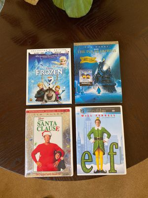 Christmas dvd blue ray discs very good condition for Sale in Fremont, CA