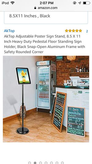 Poster sign stand for Sale in Brooklyn, NY